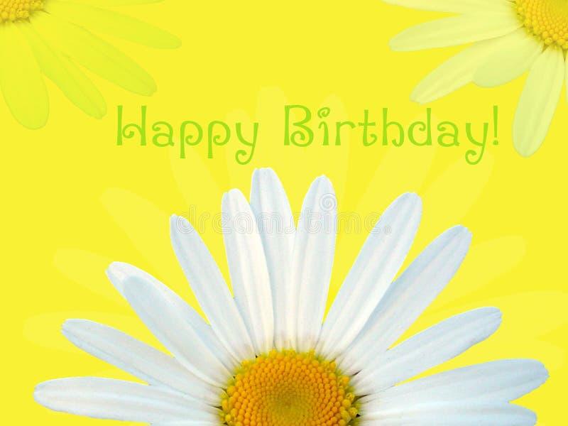 Gelukkige verjaardagskaart stock illustratie