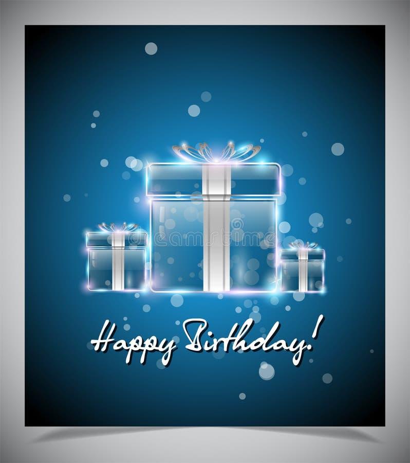 Download Gelukkige verjaardagskaart vector illustratie. Illustratie bestaande uit achtergrond - 39106168