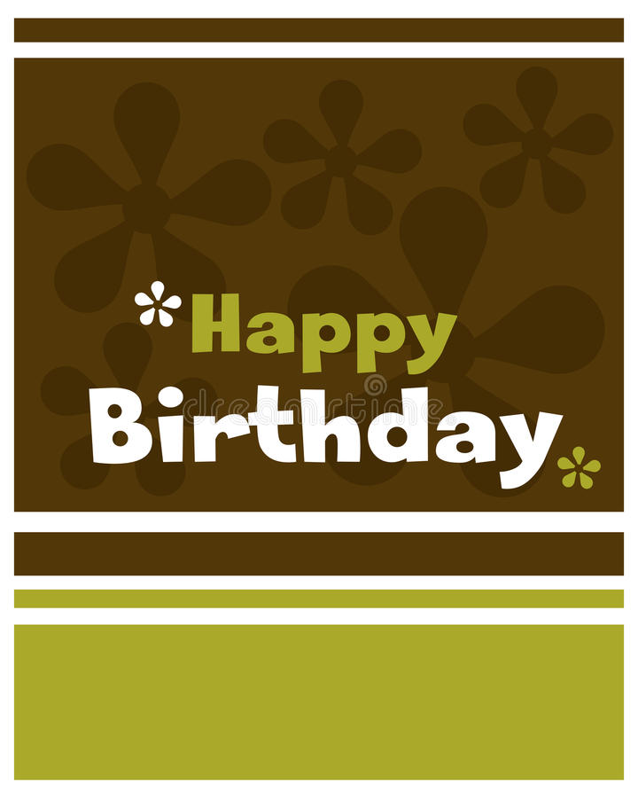 Gelukkige verjaardagskaart - vector royalty-vrije illustratie