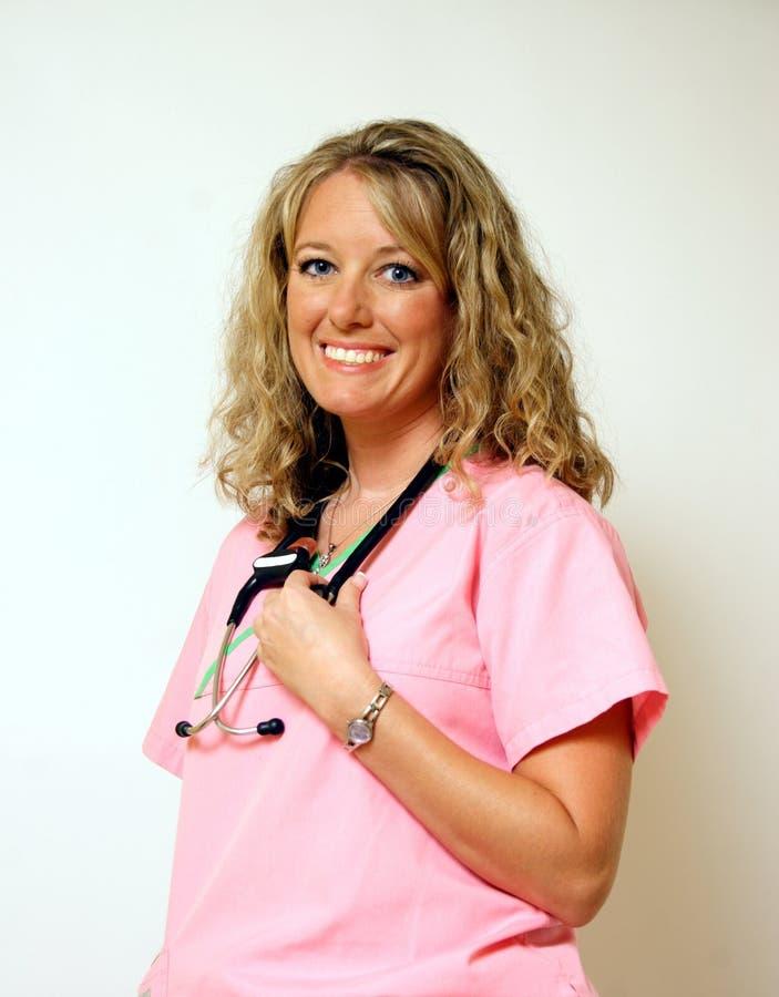 Gelukkige Verpleegster stock afbeelding
