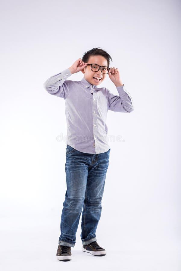 Gelukkige Vietnamese jongen stock afbeelding
