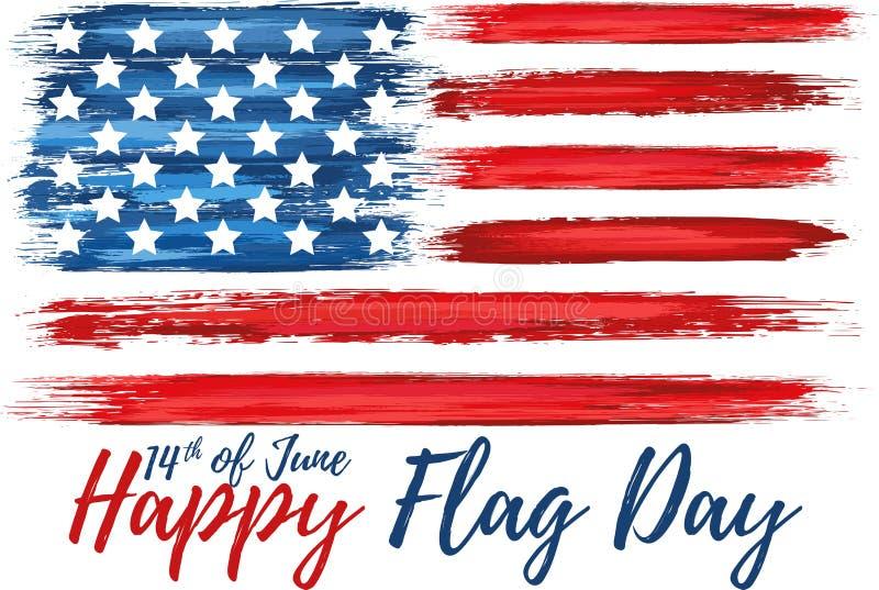 Gelukkige vlag dag veertiende van Juni vector illustratie