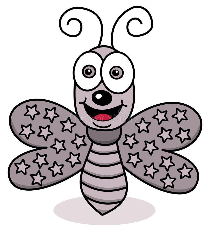 Gelukkige vliegende vlinder vector illustratie