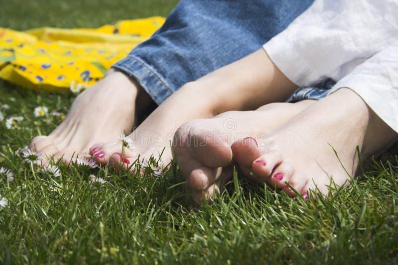 Gelukkige voeten stock afbeeldingen