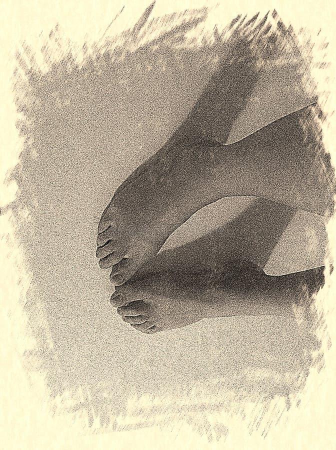 Gelukkige voeten royalty-vrije stock foto's