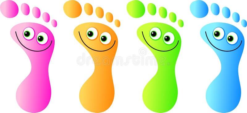 Gelukkige voeten vector illustratie