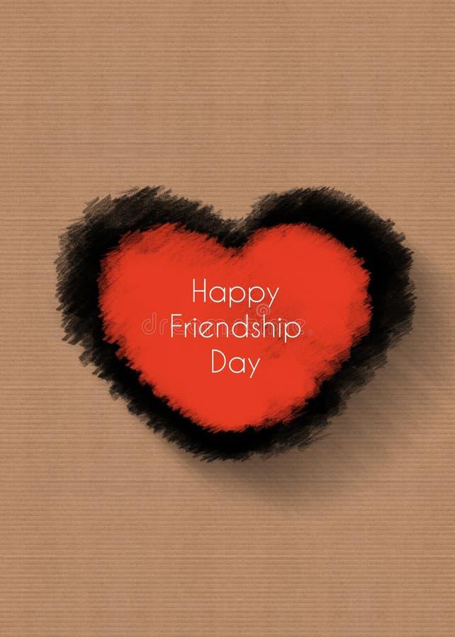 Gelukkige vriendschapsdag, hartconcept royalty-vrije stock fotografie