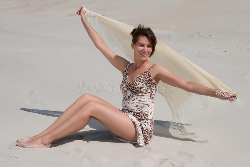 Gelukkige vrouw royalty-vrije stock fotografie