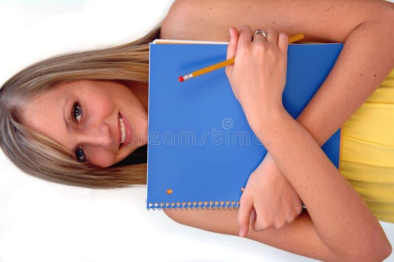 Gelukkige vrouwelijke student stock fotografie