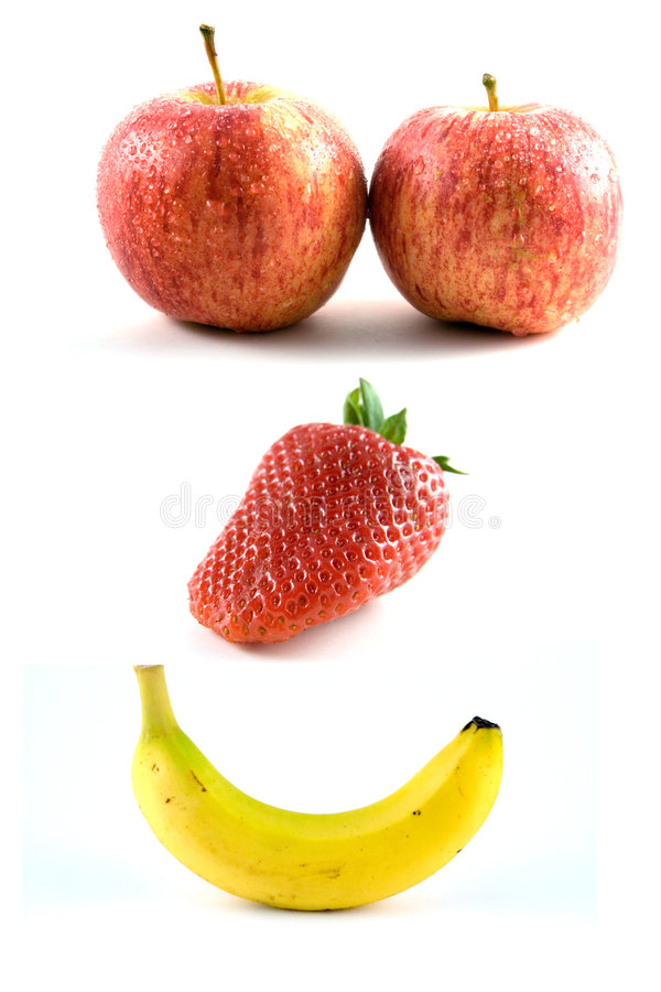 Gelukkige Vruchten royalty-vrije stock afbeelding