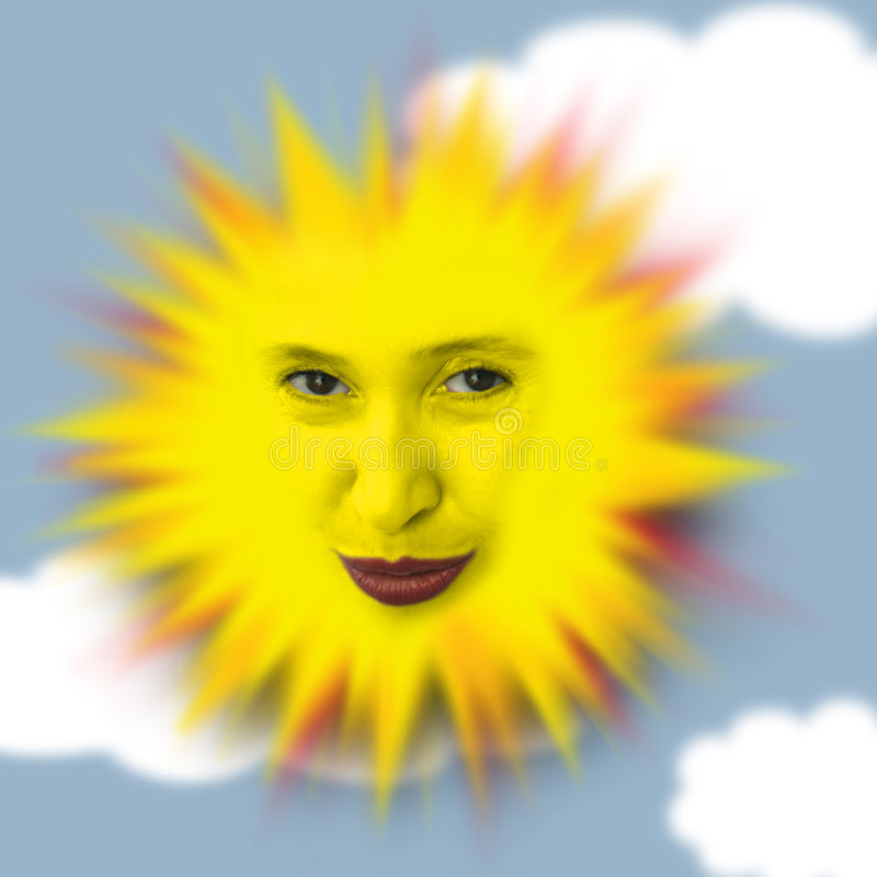Gelukkige warme zon