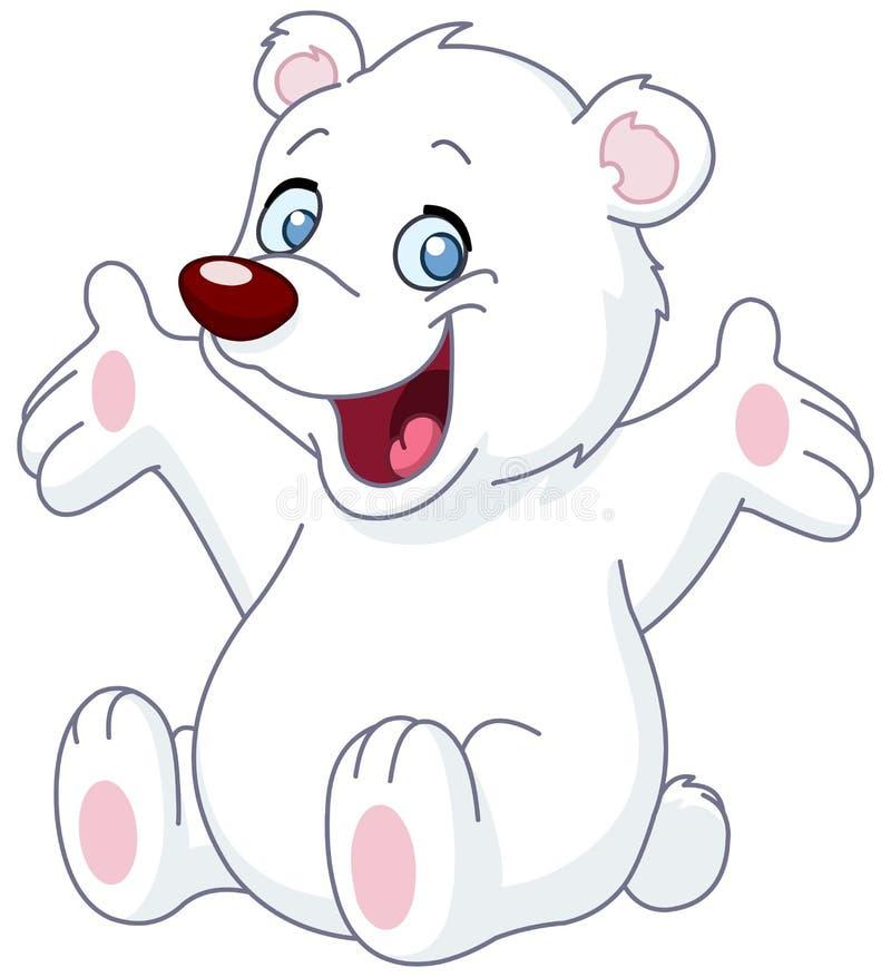 Gelukkige witte teddybeer vector illustratie