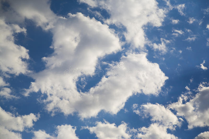 Gelukkige wolk royalty-vrije stock afbeelding