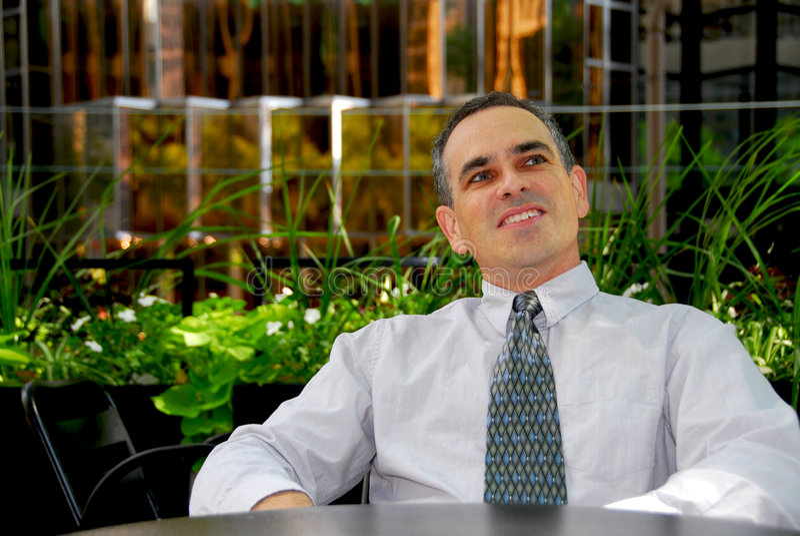 Gelukkige zakenman royalty-vrije stock fotografie