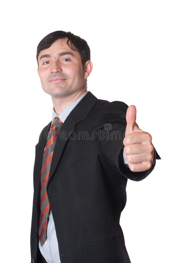Gelukkige zakenman stock foto's