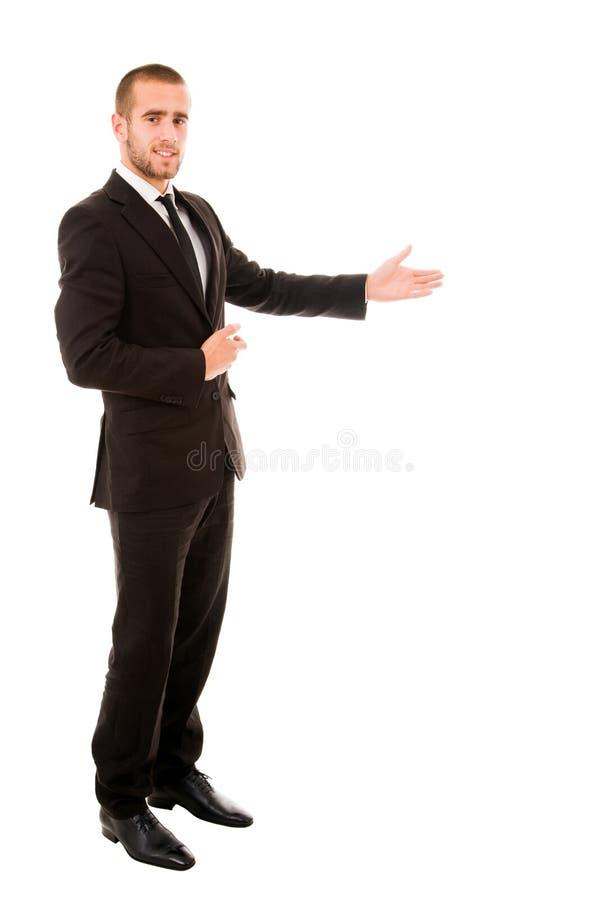 Gelukkige zakenman stock afbeeldingen