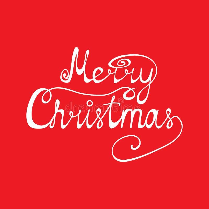 Gelukwens van Vrolijke Kerstmis stock afbeeldingen