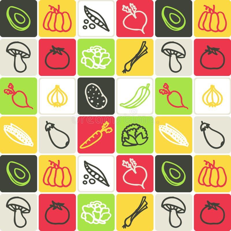 Gemüse überprüftes Muster vektor abbildung