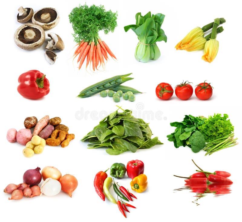 Gemüse-Ansammlung stockfotos
