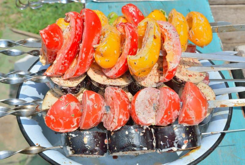 Gemüse auf Aufsteckspindeln 5 stockfotos