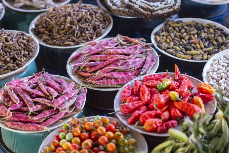 Gemüse auf dem örtlichen Markt von Kohima, Nagaland, Indien stockbilder
