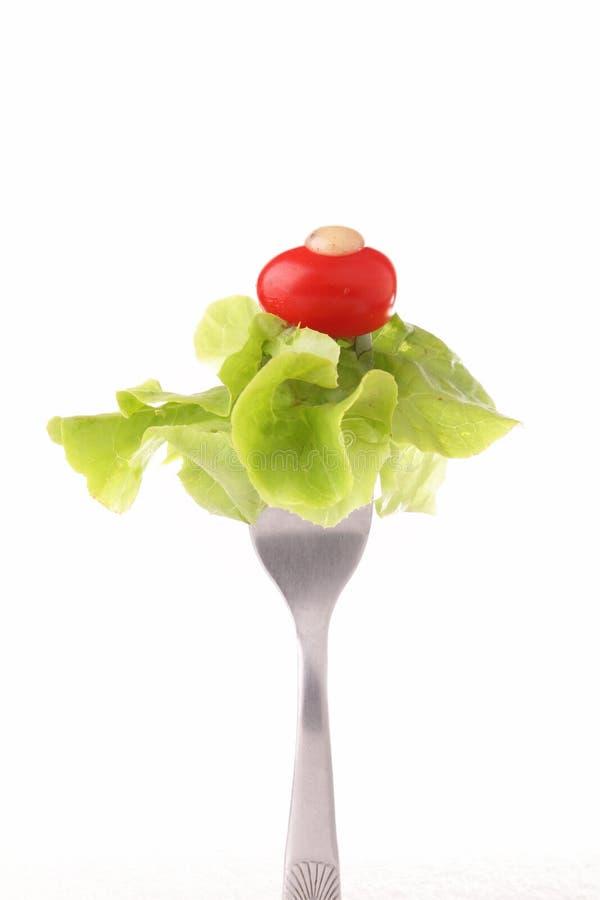Gemüse auf einer Gabel stockbilder