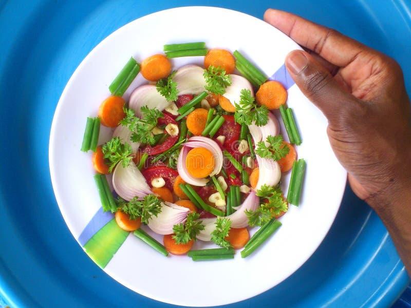 Gemüse, Dekoration und kulinarische Kunst lizenzfreie stockbilder