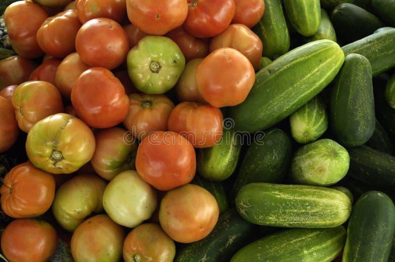 Gemüse an einem kreolischen Markt stockfoto