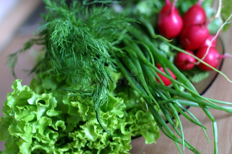Gemüse für Salat stockfotos