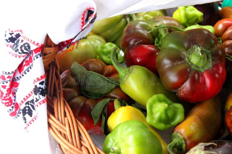 Gemüse im Korb lizenzfreies stockbild