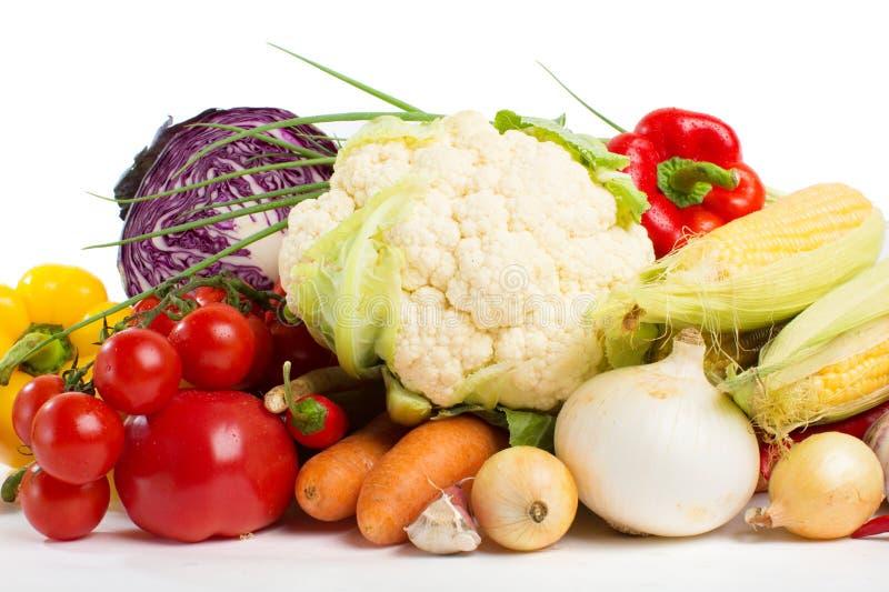 Gemüse lokalisiert auf einem weißen Hintergrund stockbilder