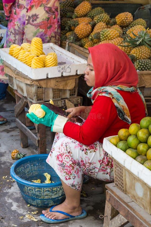 Gemüse-marktet Surabaya in Indonesien lizenzfreies stockbild