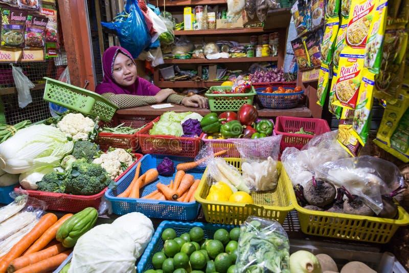 Gemüse-marktet Surabaya in Indonesien stockbilder