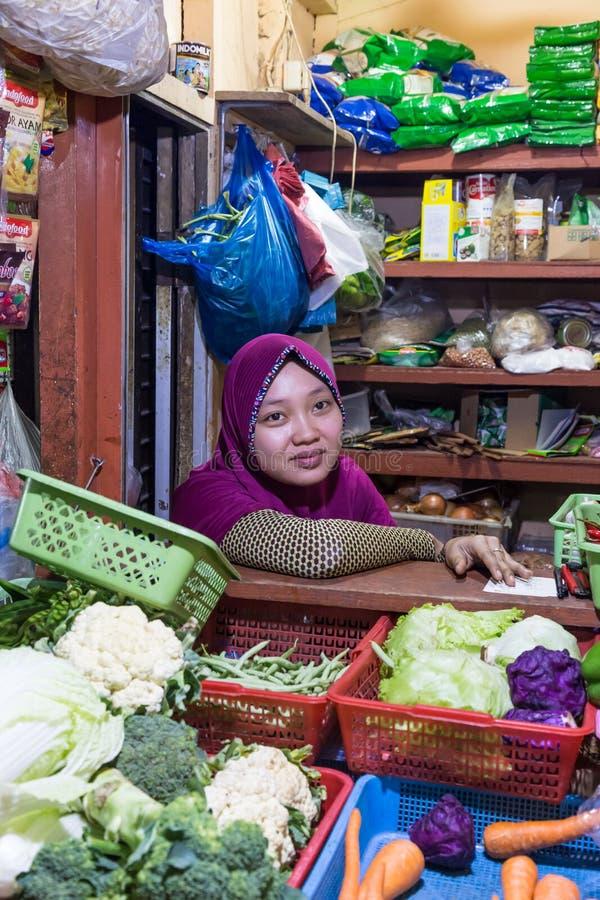 Gemüse-marktet Surabaya in Indonesien lizenzfreie stockbilder
