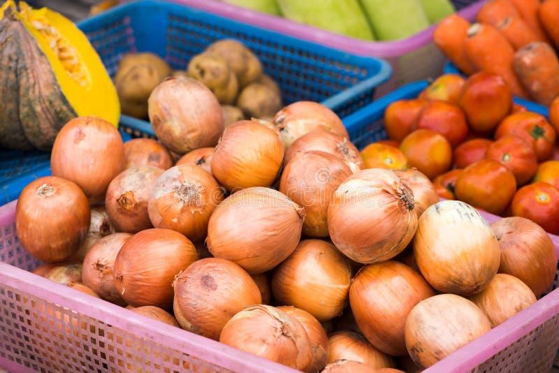 Gemüse am Marktplatz im Freien stockbild