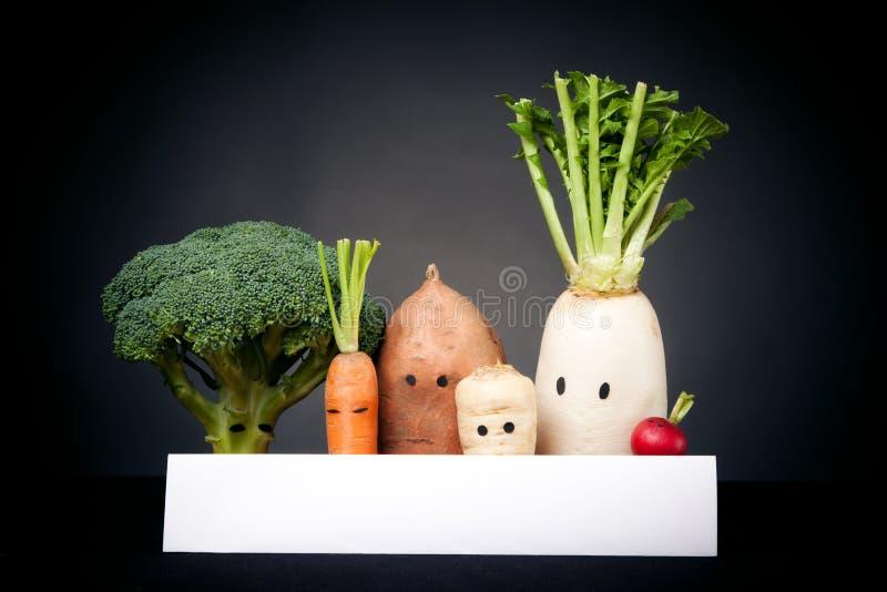 Gemüse mit Augen lizenzfreie stockbilder