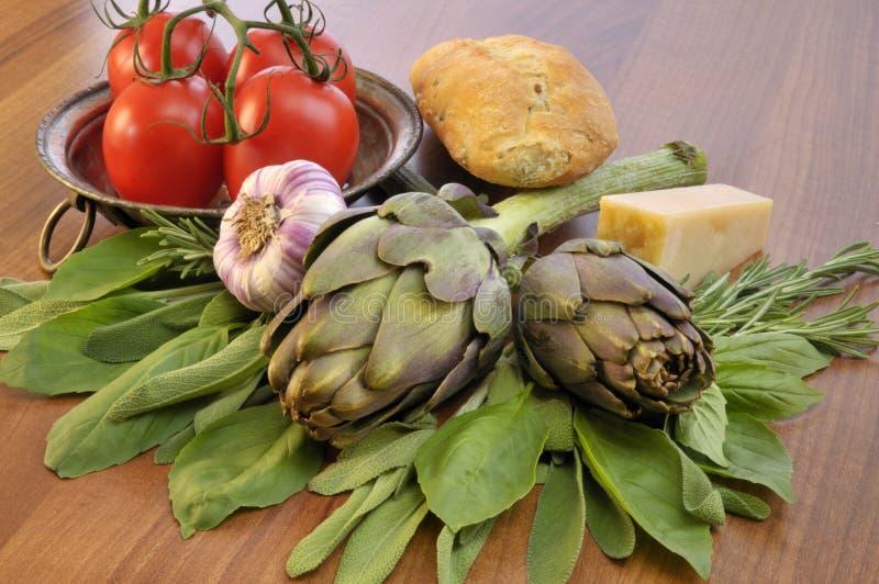 Gemüse paniert und Käse stockfotos