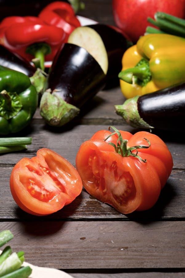 Gemüse schließt oben stockfotografie
