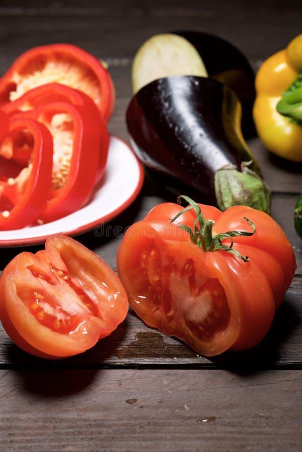 Gemüse schließt oben stockbild