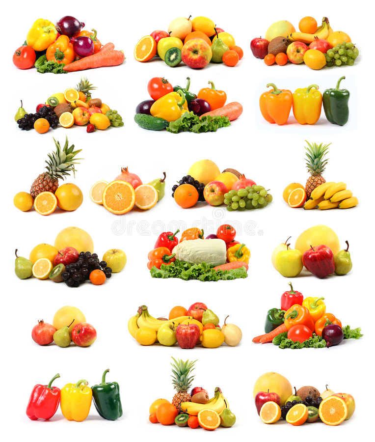 Gemüse und Frucht stockbild