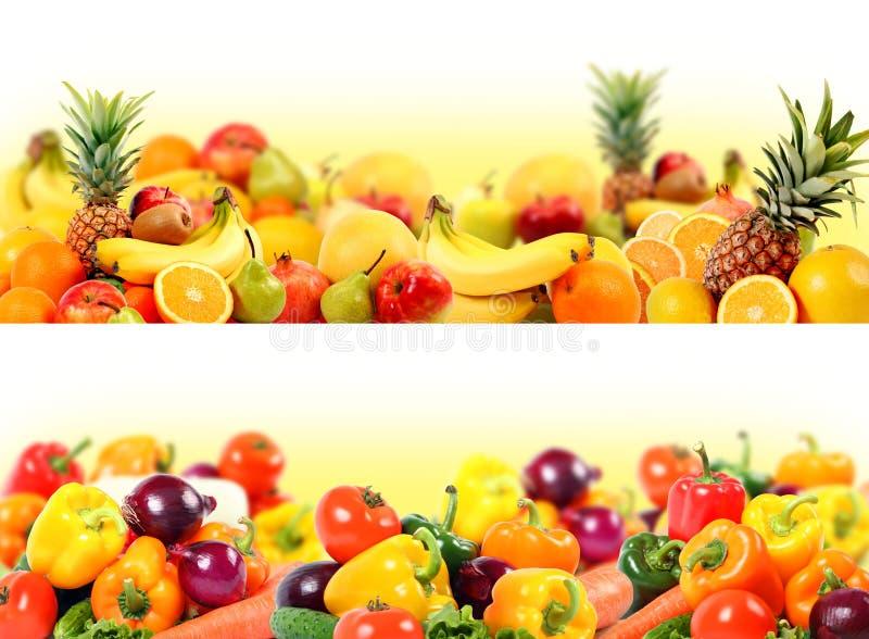 Gemüse und Fruchtaufbau lizenzfreie stockfotografie