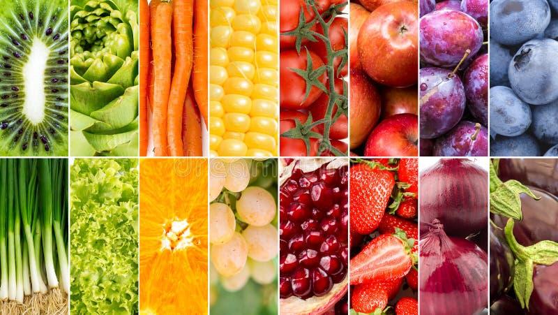 Gemüse und Fruchtcollage lizenzfreie stockfotografie