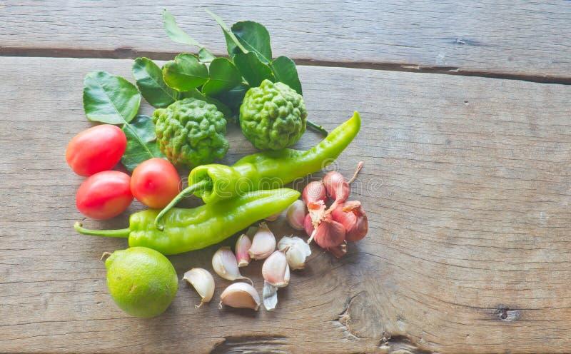 Gemüse und Gewürze stockbild
