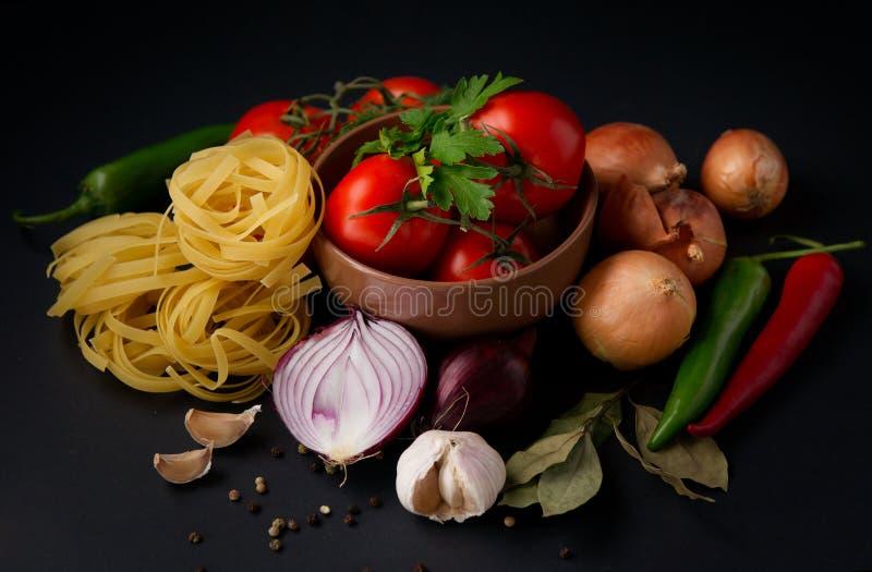 Gemüse und Teigwaren stockfoto