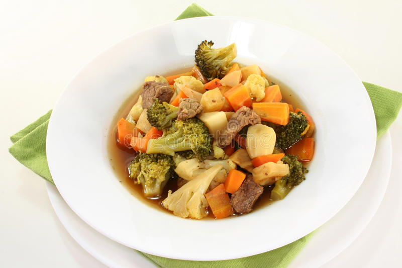 Gemüseeintopfgericht stockbild