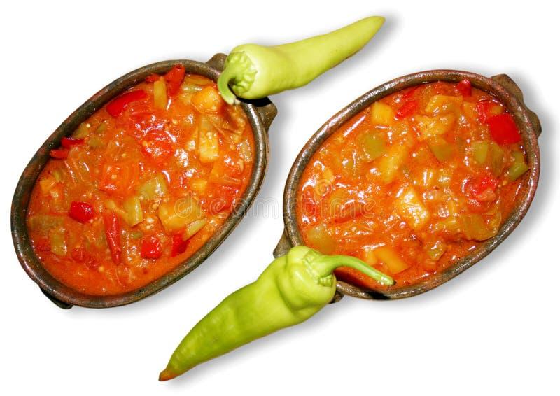 Gemüseeintopfgericht stockfotografie