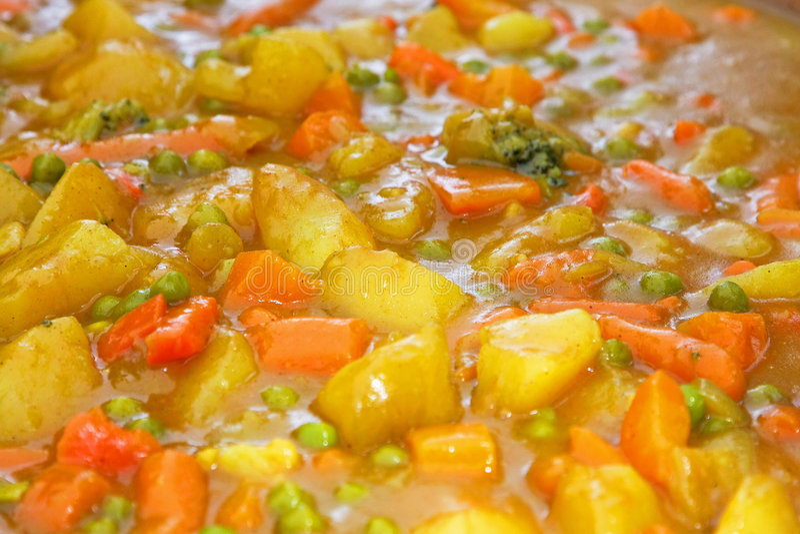 Gemüseeintopfgericht lizenzfreie stockfotografie