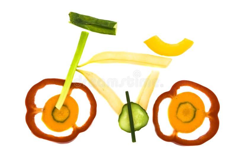 Gemüsefahrrad lizenzfreie stockfotografie
