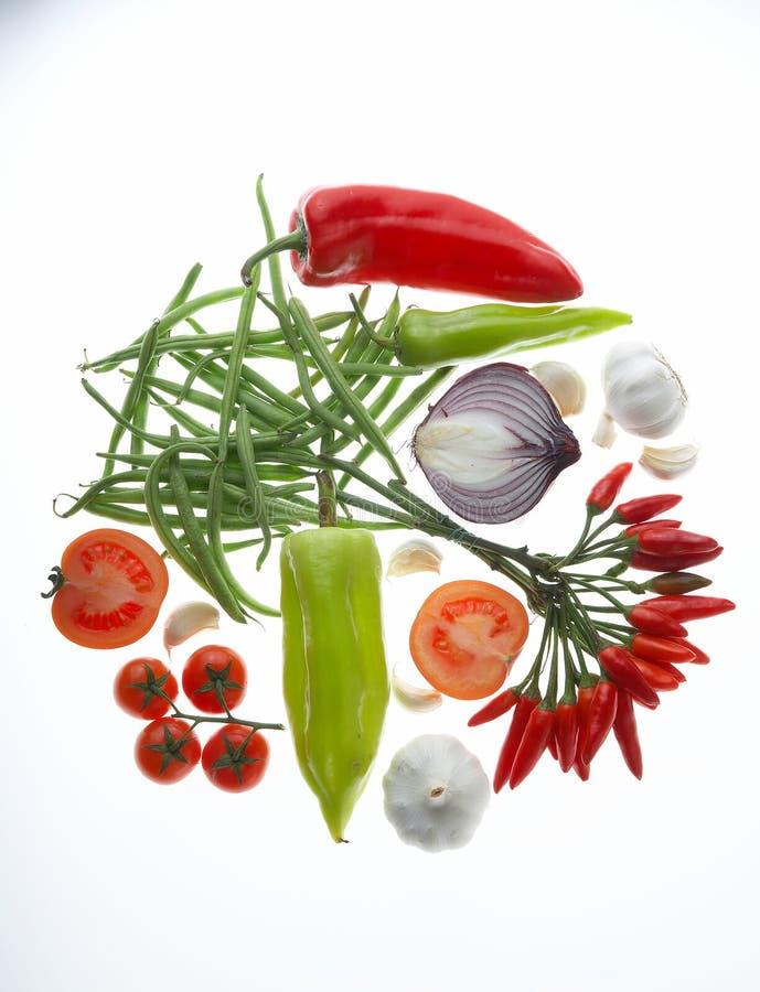 Gemüsekreis - Gemuesekreis stockfoto