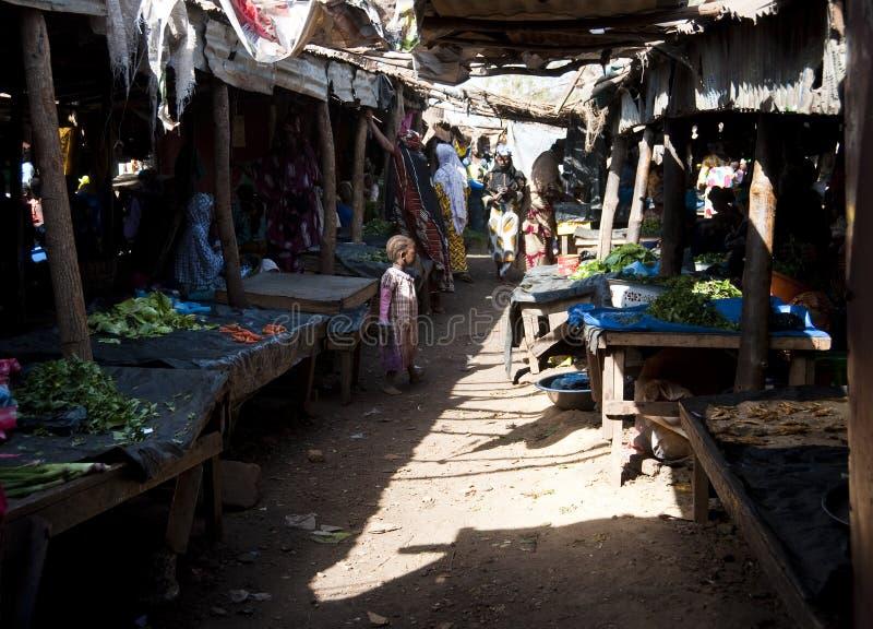 Gemüsemarkt in Bamako stockbilder